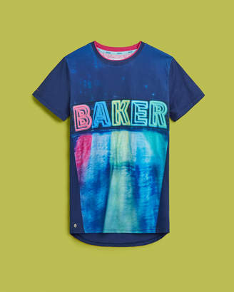 Ted Baker CHACHOC Reflective logo cotton T-shirt