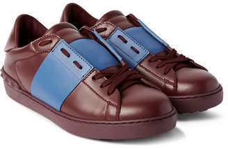 Valentino Striped Leather Sneakers