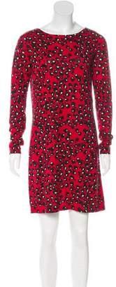 Diane von Furstenberg Abstract Print Mini Dress