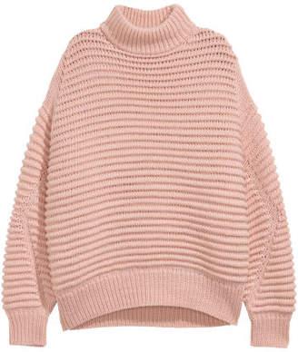 H&M Knit Wool-blend Sweater - Orange