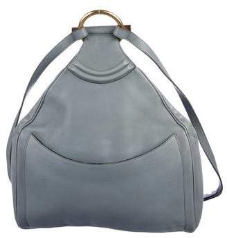 Delvaux Grained Leather Backpack