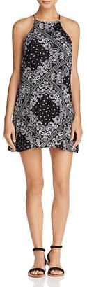 AQUA Bandana Print Shift Dress - 100% Exclusive $78 thestylecure.com