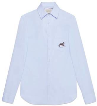 Gucci Cotton shirt with horse fil coupé