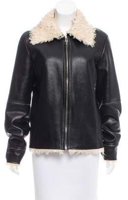 Velvet Faux Shearling Jacket