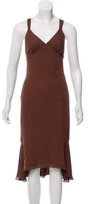 J. Mendel Sleeveless Midi Dress