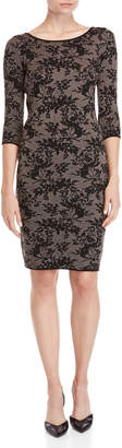 Taylor Floral Sweater Sheath Dress