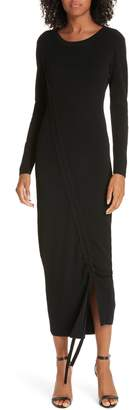 Milly Diagonal Ruched Tunnel Dress