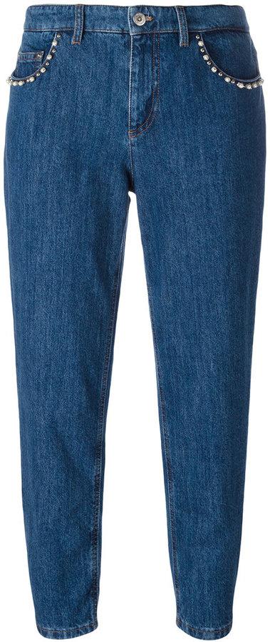 Miu MiuMiu Miu stoned pockets cropped jeans