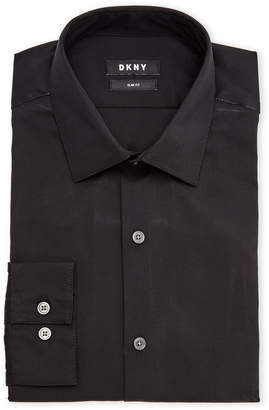 DKNY Black Slim Fit Dress Shirt