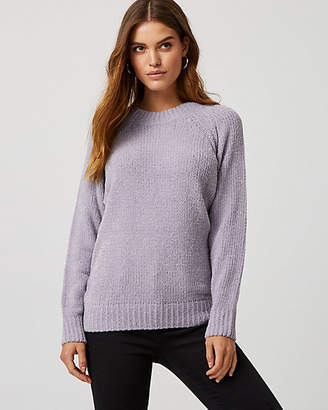 Le Château Metallic Knit Chenille Sweater