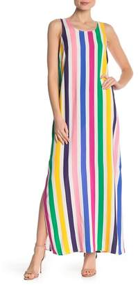 MSK Striped Sleeveless Maxi Dress