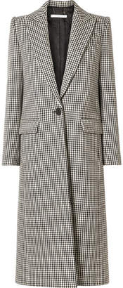 Givenchy Houndstooth Wool Coat - Black
