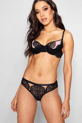 boohoo Cut Out Lace Brief