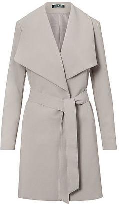 Ralph Lauren Lauren Crepe Open-Front Coat $190 thestylecure.com