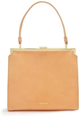 Mansur Gavriel Beige-lined top-handle leather bag