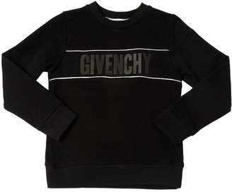 Givenchy Logo Printed Cotton Piqué Sweatshirt