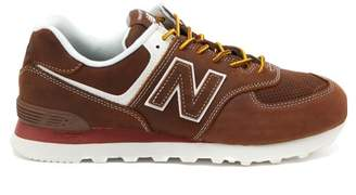 Junya Watanabe X New Balance 574 Suede Trainers - Mens - Brown