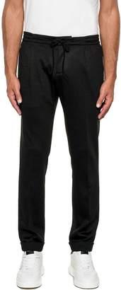 Paolo Pecora Black Wool Trousers