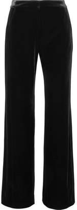 L'Agence Arlo Velvet Straight-leg Pants - Black