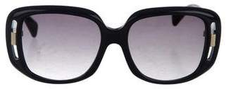 Alexander McQueen Cutout Square Sunglasses