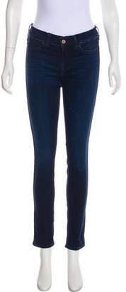 MiH Jeans Distressed Mid-Rise Skinny Jeans