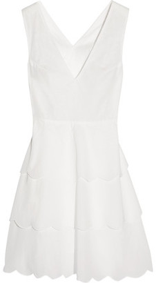 Marysia San Onofre Tiered Cotton-Voile Dress $367 thestylecure.com