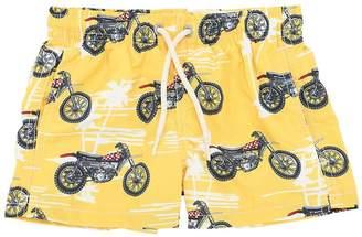 MC2 Saint Barth Motorbike Print Nylon Swim Shorts