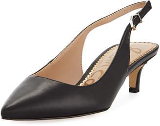 56fcda475e1 Sam Edelman Ludlow Leather Kitten-Heel Slingback Pumps