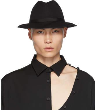 Yohji Yamamoto Black Six Panel Hat