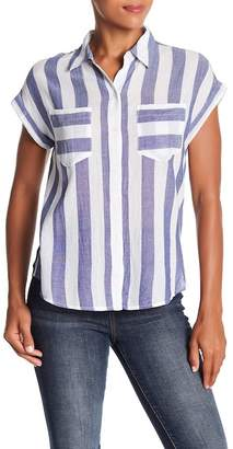 Lucky Brand Striped Blouse Tee