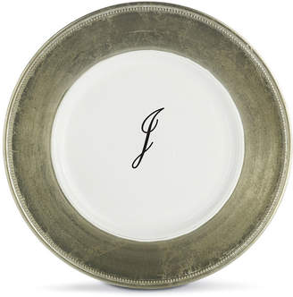 JCPenney Jay Imports Monogrammed Set of 8 Gold-Trim Chargers