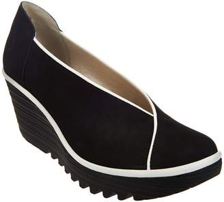 Fly London Leather Slip-on Wedge - Yuca