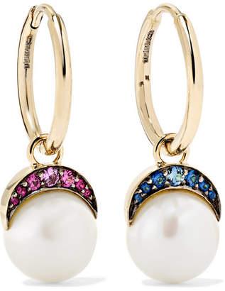 Noor Fares - Mala 18-karat Gold Multi-stone Earrings