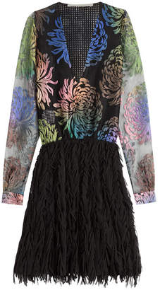 Marco De Vincenzo Dress with Embroidered Mesh Top