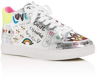 096597c04b7 Steve Madden Girls  JPowers Graphic Mid-Top Sneakers - Little Kid