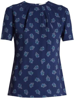 Altuzarra Devan floral-print stretch-faille top