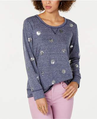 Style&Co. Style & Co Petite Sequined-Dot Sweatshirt