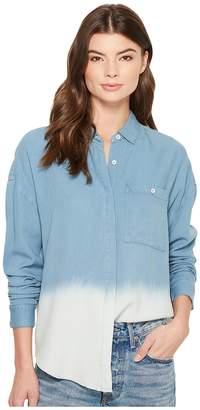 Splendid Westport Indigo Ombre Woven Shirt Women's T Shirt
