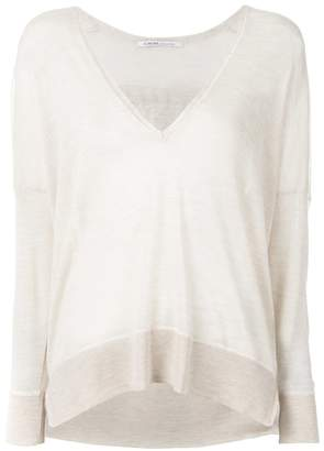 Agnona cashmere v-neck top