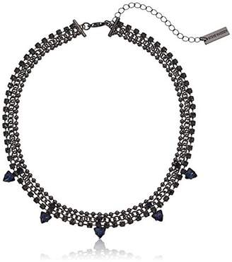 Steve Madden Beaded Curb Sq Trngl Choker Necklace