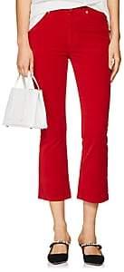 RE/DONE Women's Velvet Crop Flare Pants-Red