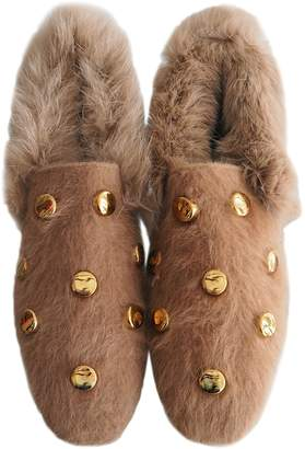 Goodnight Macaroon 'Juana' Golden Studs Faux Fur Loafers (2 Colors)