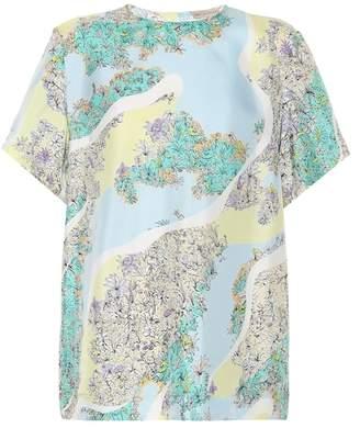 Emilio Pucci Floral-printed silk T-shirt