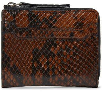 Dries Van Noten Snake-Effect Leather Zip-Around Wallet