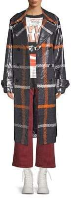 Marc Jacobs Belted Plaid Trench Coat