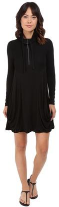 kensie Drapey French Terry Dress KS8K9656 $99 thestylecure.com