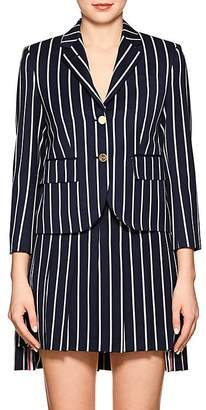 Thom Browne Women's Striped Wool-Cotton Three-Button Blazer