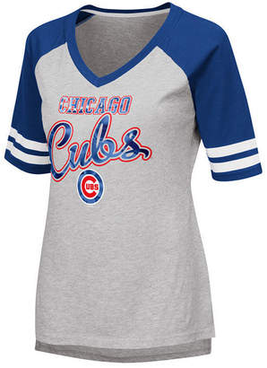 G-iii Sports Women Chicago Cubs Goal Line Raglan T-Shirt