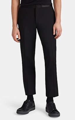 Lanvin Men's Satin-Trimmed Wool-Mohair Slim Tuxedo Trousers - Black