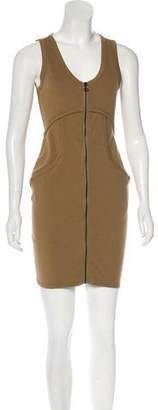 Alexander Wang Zip-Up Bodycon Dress